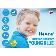 MATERAC PIANKOWY HEVEA YOUNG BLUE 200x90